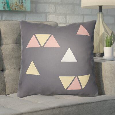 Smetana Indoor/Outdoor Throw Pillow Color: Gray, Size: 20 H x 20 W x 4 D