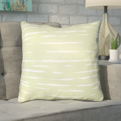 Smetana Outdoor Throw Pillow Size: 18 H x 18 W x 4 D, Color: Green