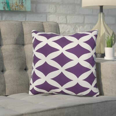Throw Pillow Size: 16 H x 16 W, Color: Sugarplum