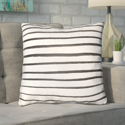 Smetana Outdoor Throw Pillow Size: 20 H x 20 W x 4 D, Color: White