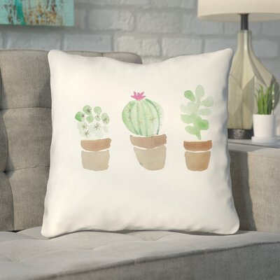 Bishopsworth Flores Indoor/Outdoor Throw Pillow Size: 18 H x 18 W x 4 D