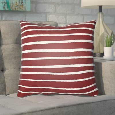 Smetana Indoor/Outdoor Throw Pillow Size: 20 H x 20 W x 4 D, Color: Red