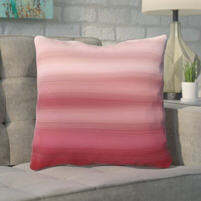 Aguero Ombre Watercolors Throw Pillow Size: 16 H x 16 W, Color: Dark Red