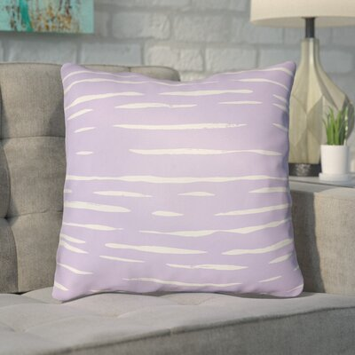 Smetana Outdoor Throw Pillow Size: 18 H x 18 W x 4 D, Color: Purple