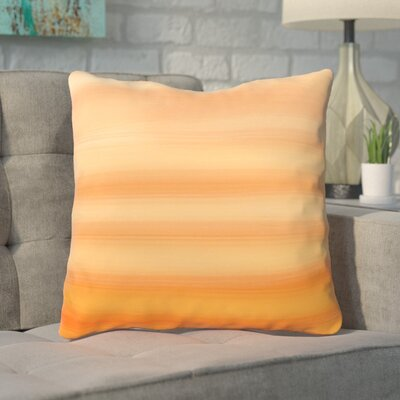 Aguero Ombre Watercolors Throw Pillow Size: 20 H x 20 W, Color: Tangerine