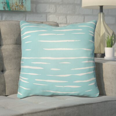 Smetana Outdoor Throw Pillow Size: 18 H x 18 W x 4 D, Color: Blue