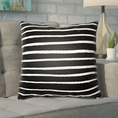 Smetana Indoor/Outdoor Throw Pillow Size: 18 H x 18 W x 4 D, Color: Black