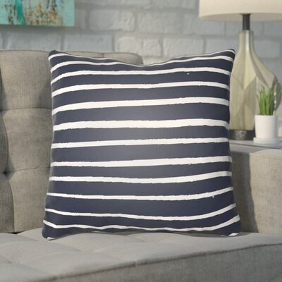 Smetana Indoor/Outdoor Throw Pillow Size: 18 H x 18 W x 4 D, Color: Dark Blue