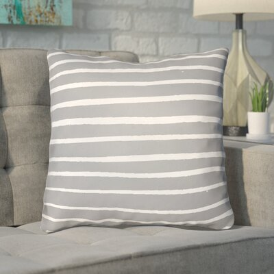 Smetana Outdoor Throw Pillow Size: 20 H x 20 W x 4 D, Color: Gray