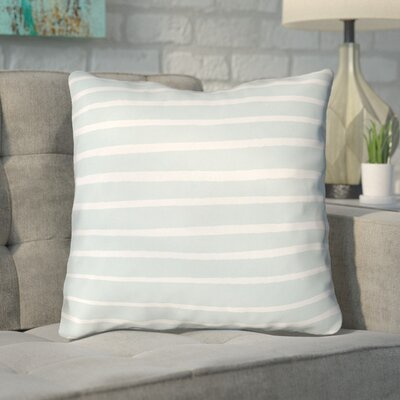Smetana Outdoor Throw Pillow Size: 20 H x 20 W x 4 D, Color: Light Blue