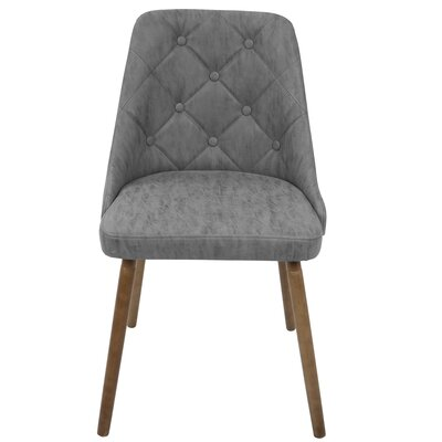 Baize Side Chair Upholstery: Gray