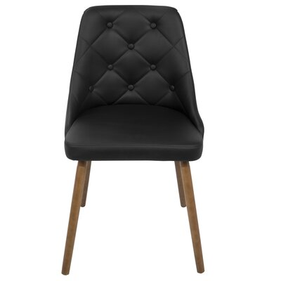Baize Upholstered Side Chair Upholstery: Black