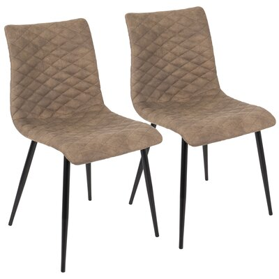 Bakken Side chair Upholstery: Brown