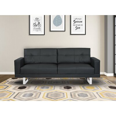 Lincoln Sofa Upholstery: Black