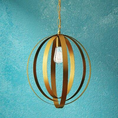 Arango 1-Light Globe Pendant Size: 21 H x 16 W x 16 D