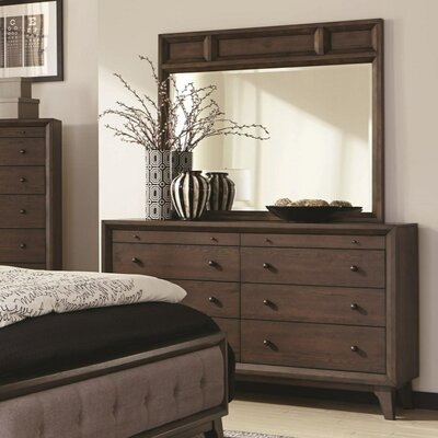 Zichichi 8 Drawer Dresser with Mirror