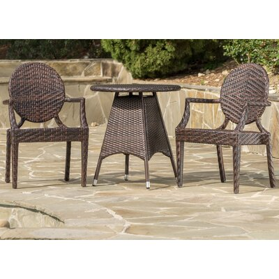 Carbonell Outdoor Wicker Bistro Set