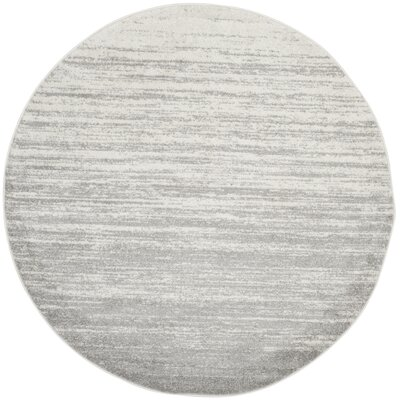 Busick Ivory/Silver Area Rug Rug Size: Round 5