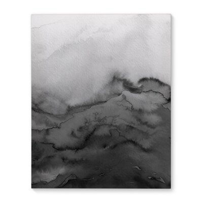 'Winter Waves Grayscale - Multi' Graphic Art Print on Canvas Size: 10
