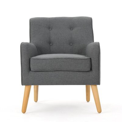 Copp Mid Century Arm Chair Upholstery: Charcoal