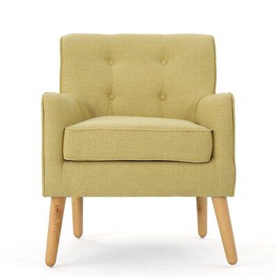 Copp Mid Century Arm Chair Upholstery: Wasabi