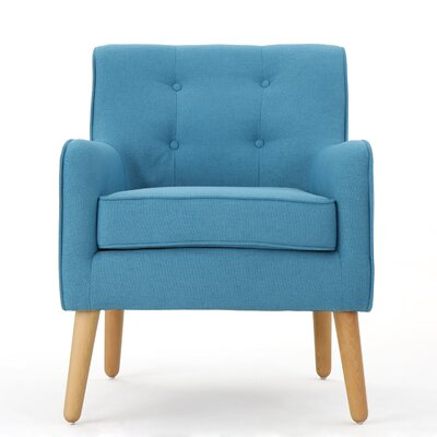 Copp Mid Century Arm Chair Upholstery: Teal