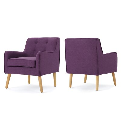 Copp Mid Century Arm Chair Upholstery: Purple