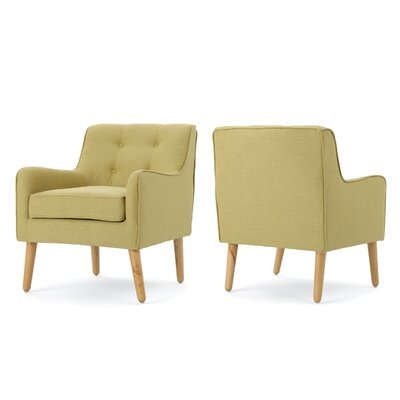 Copp Mid Century Arm Chair Upholstery: Wasabi