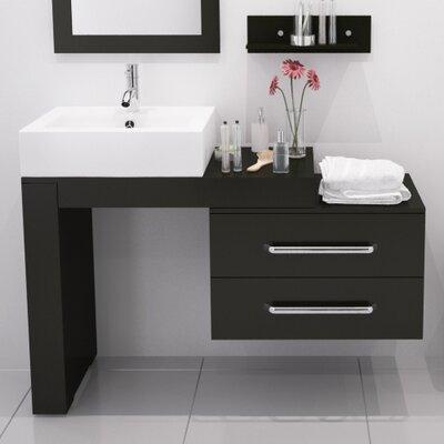 Osborn 57 Single Wall Mounted Modern Bathroom Vanity Set Finish: Espresso
