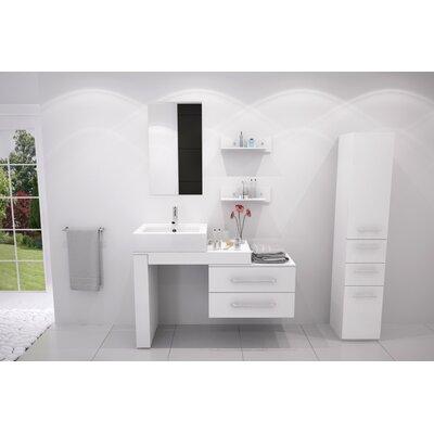 Osborn 57 Single Wall Mounted Modern Bathroom Vanity Set Finish: White