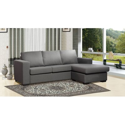 Osby Chaise Reversible Sectional Upholstery: Grey