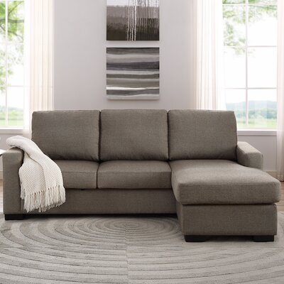 Osby Chaise Reversible Sectional Upholstery: Tan