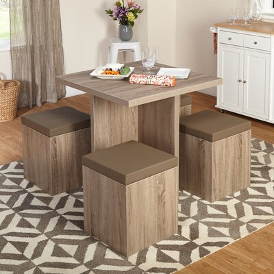 Osgood 5 Piece Dining Set Color: Brown