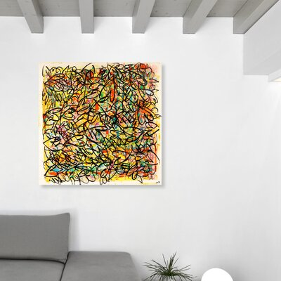 'Sollicitam' Painting Print on Canvas Size: 12'' H x 12'' W x 1.5'' D
