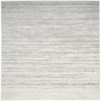 Busick Ivory/Silver Area Rug Rug Size: Square 7