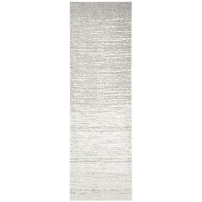 Busick Ivory/Silver Area Rug Rug Size: Runner 26 x 20