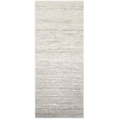 Busick Ivory/Silver Area Rug Rug Size: Runner 26 x 6