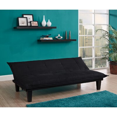Bane Convertible Sofa Upholstery: Black