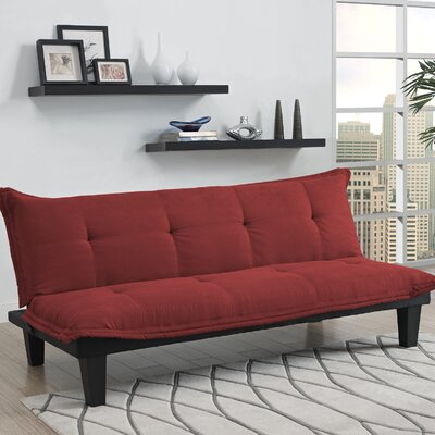Bane Convertible Sofa Upholstery: Red
