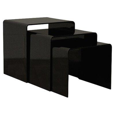 Brawner 3 Piece Nesting Table Finish: Black