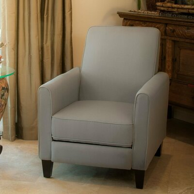 Cabrales Recliner Club Chair Upholstery: Grey