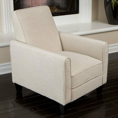 Cabrales Manual Recliner Upholstery: Light Beige