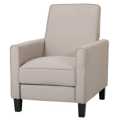 Cabrales Recliner Club Chair Upholstery: Wheat Beige