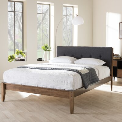 Cadena Upholstered Platform Bed Size: King