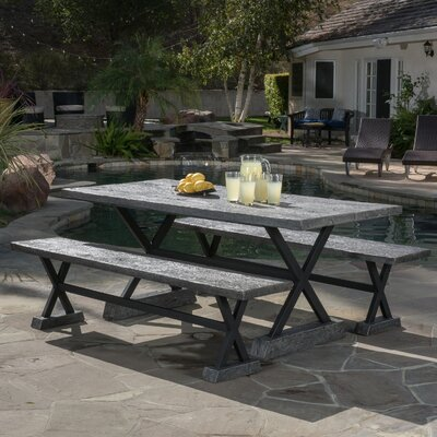 Cadiz Picnic Table Finish: Grey
