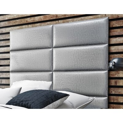 Bernardsville Upholstered Headboard Panels Size: 46 H x 30 W x 2.5 D, Upholstery: Pearl Silver