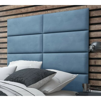 Bernardsville Upholstered Headboard Panels Size: 46 H x 39 W x 2.5 D, Upholstery: Suede Ocean Blue