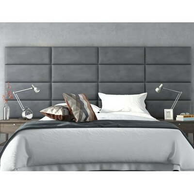 Calahan Upholstered Headboard Panels Size: 46 H x 30 W x 2.5 D, Upholstery: Suede Gray