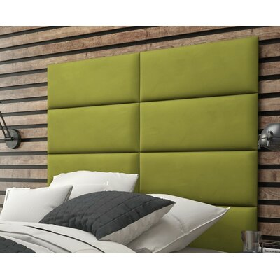 Calahan Upholstered Headboard Panels Size: 46 H x 30 W x 2.5 D, Upholstery: Suede Olive Green