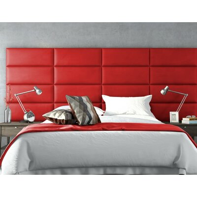 Calahan Upholstered Headboard Panels Size: 46 H x 30 W x 2.5 D, Upholstery: Suede Red Melon